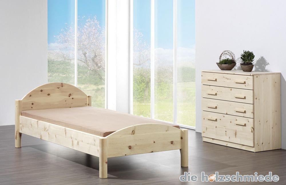 Massivholz Bett Diogenes In Zirbelkiefer Und Buche Von Der