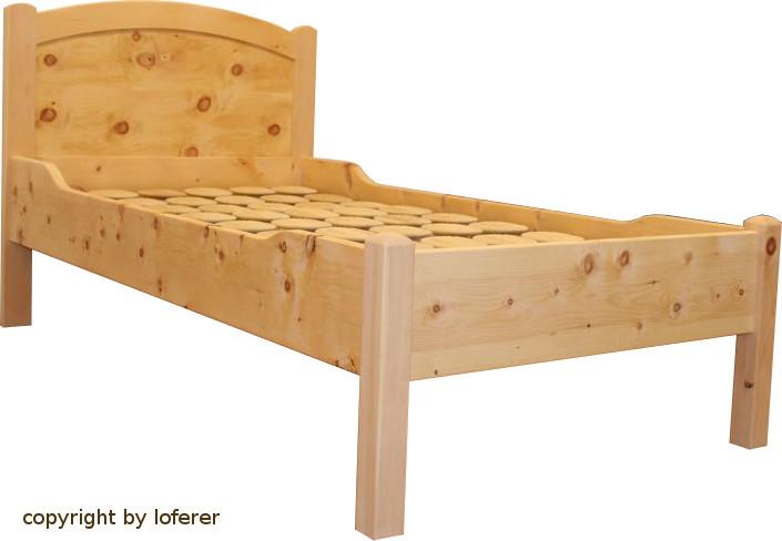 Bett Zirbe 100x200