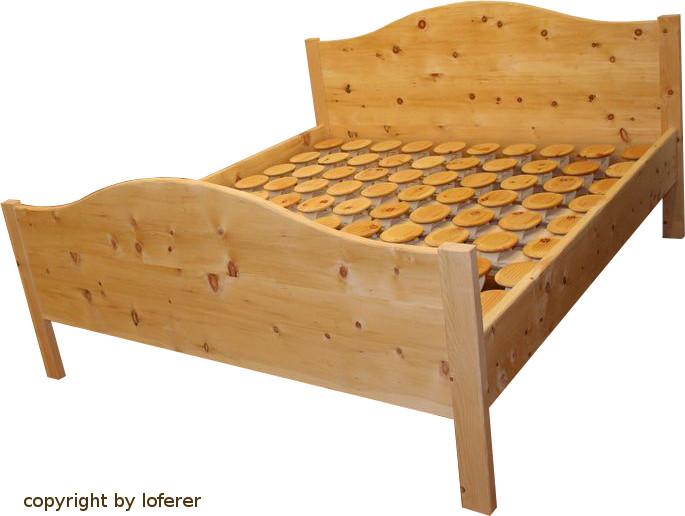 Bett aus Zirbe