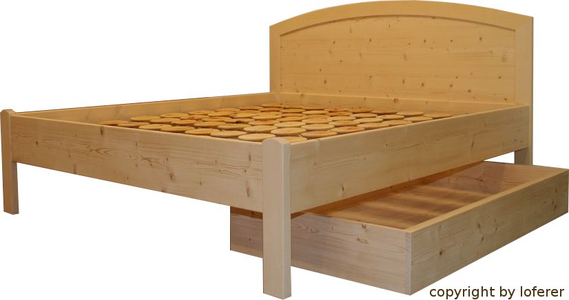 Bett Fichte mit Schublade