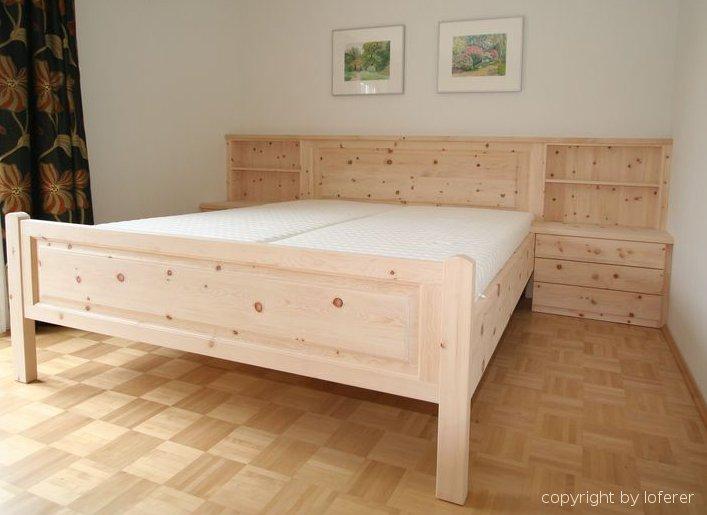zirbenholz schlafzimmer, fertigung von der schreinerei aus, Schlafzimmer entwurf