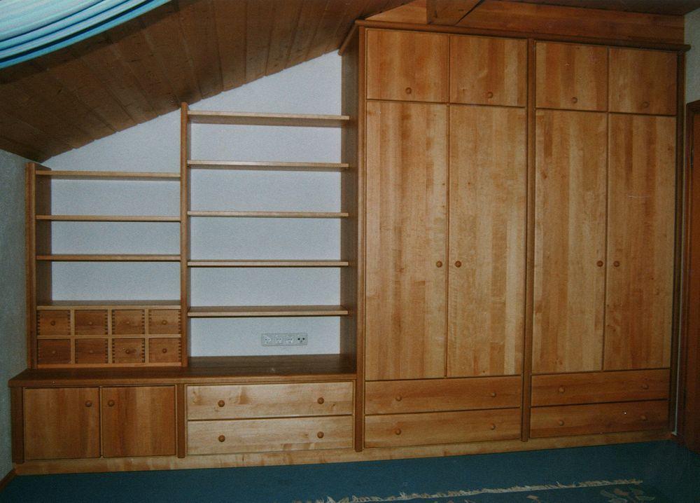 schlafzimmer erle von der schreinerei loferer in sufferloh bei holzkirchen. Black Bedroom Furniture Sets. Home Design Ideas