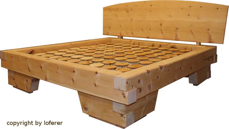 Zirbenholz Balkenbett
