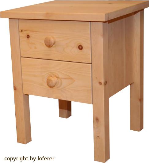 Nachttisch Zirbenholz