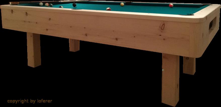 Billardtisch in Zirbenholz