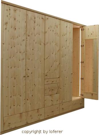 Schlafzimmerschrank Zirbenholz
