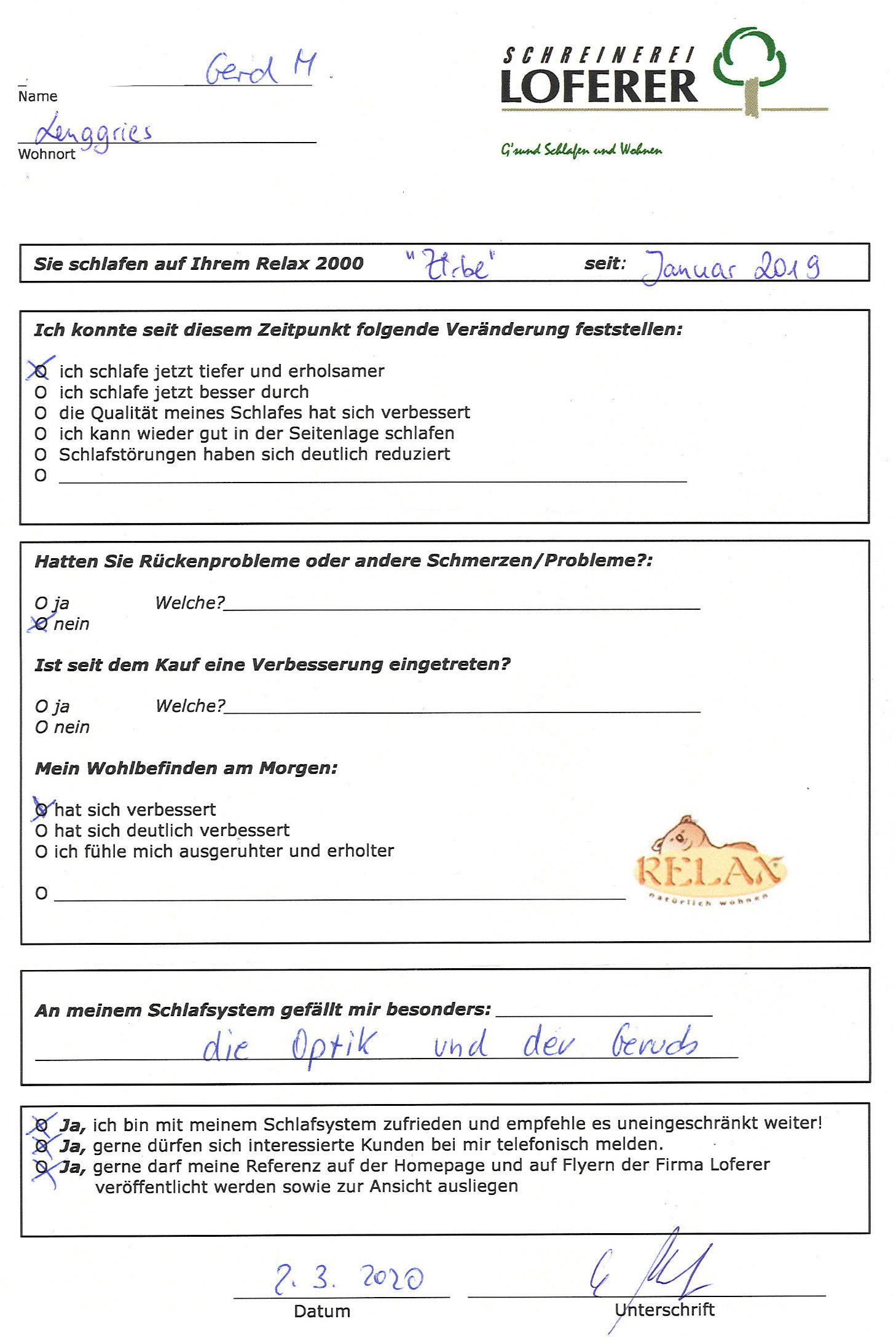 Referenz Relax 2000